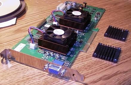 3dfx Voodoo5 5500 heatsink upgrade