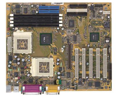 MSI 694D Pro dual socket 370 moederbord