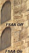 FSAA blur-effect