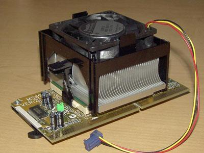 Intel Pentium III-933 Heatsink + Fan
