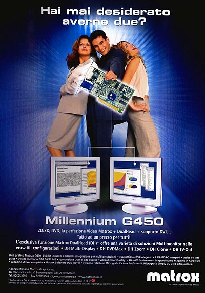 Matrox Millennium G450 advertentie