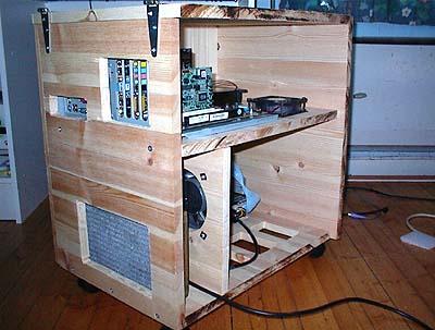 Creatief-met-hout : houten systeemkast