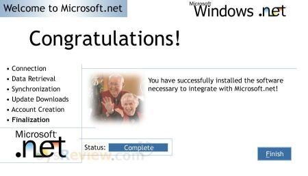 Microsoft Whistler / Microsoft.NET screenshots