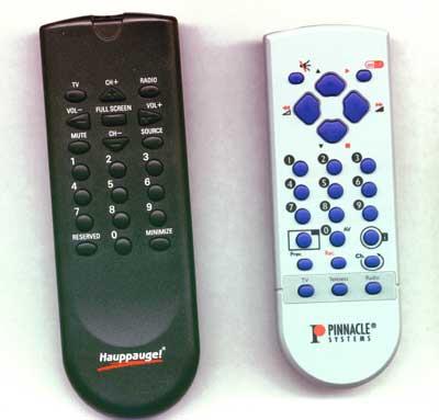 De WinTv en PCTV zappers