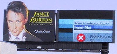 Billboard met Windows foutmelding