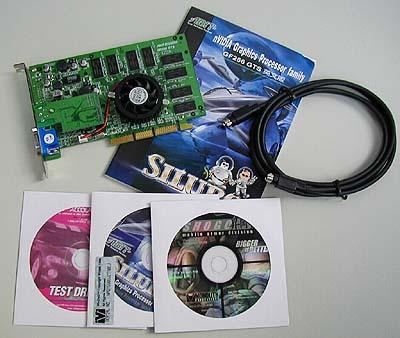 Inhoud Siluro Geforce2 doos
