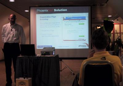 Powerpoint presentatie op Chaintech feestje