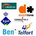 Deelnemers aan de umts-veiling: KPN, Libertel (nu Vodafone), DutchTone (nu T-Mobile), Versatel, Ben (nu T-Mobile) en Telfort (nu KPN)