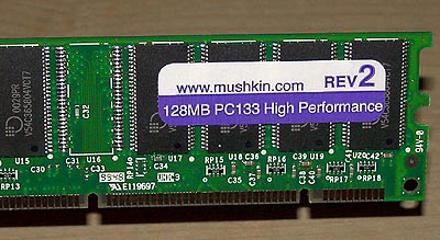 Mushkin PC133 CAS2 DIMM