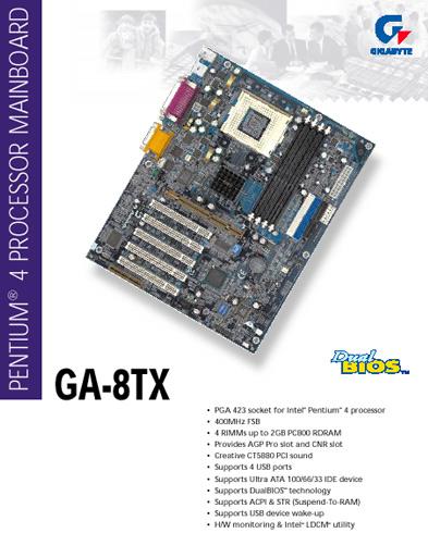 GA-8TX pdf screenshot