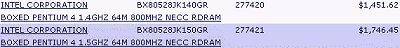 Pentium 4 te koop @ techdata