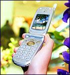 Illustratie van 3g-telefoon zoals men zich die in 2000 voorstelde
