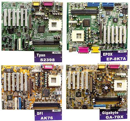 Tyan, Epox, DFI en Gigabyte AMD 760 moederborden