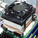 Pentium 4 met heatsink en fan