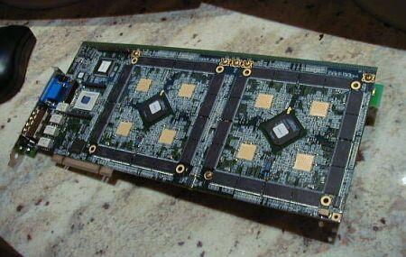 Quantum 8-way SLI board met 256MB geheugen