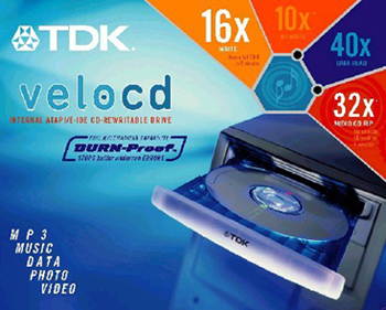 TDK VeloCD 16/10/40