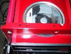 DVD mod - top view