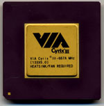 Via Cyrix III (it sucks)