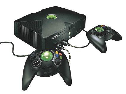 Microsoft Xbox met controllers