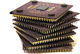 AMD Athlon Thunderbird gestapeld