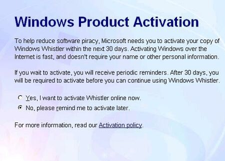 Microsoft Whistler build 2410