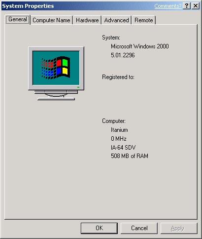 Whistler Beta 1 - Itanium