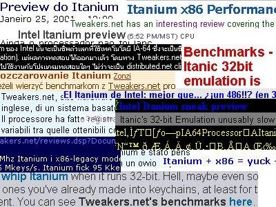 Itanium review in het nieuws
