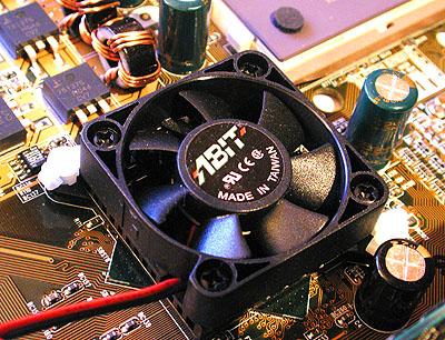 Abit KT7 - Chipset fan