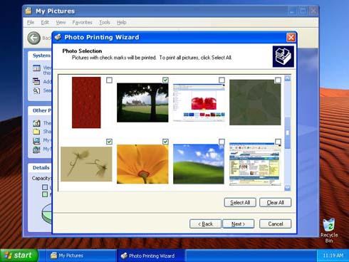 Windows XP Photoprinting