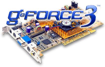Asus V8200 Deluxe met GeForce3 logo