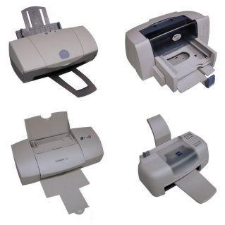 Vier goedkope printers
