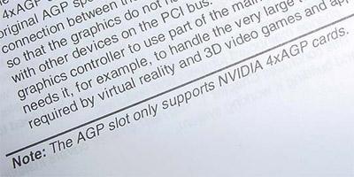 AGP slot nVidia only (Elite K7SEM)