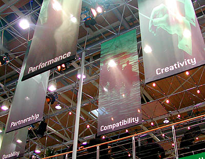 CeBIT 2001: AMD stand