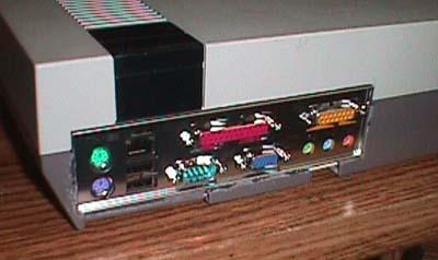 NES casemod achter
