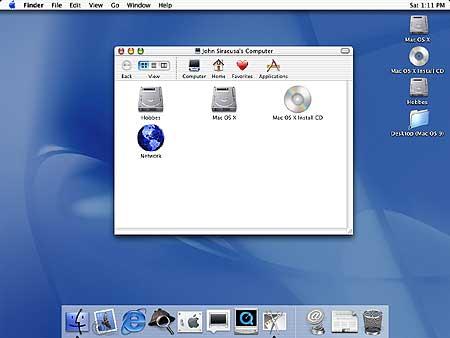 MacOS X interface screenshot