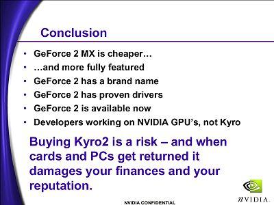 nVidia kraakt Kyro II af