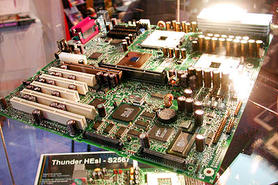 CeBIT 2001: Tyan dual Foster mobo (layout)