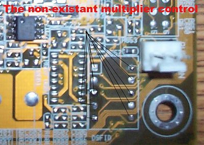 Asus A7M266 multiplier mod