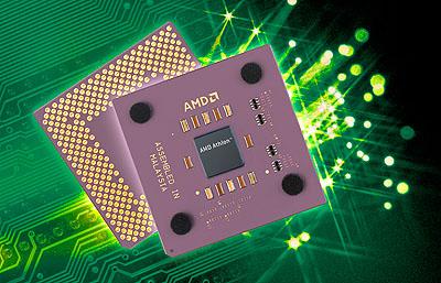 AMD Athlon 4 met groene bg