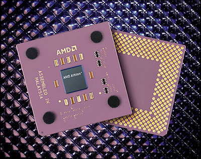 AMD Athlon 4 met coole background texture