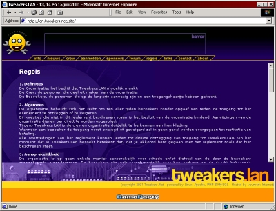 Tweakers.LAN site screenshot