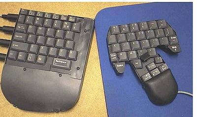 Toetsenbord en muis in ��n