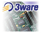 3ware logo met PCB background