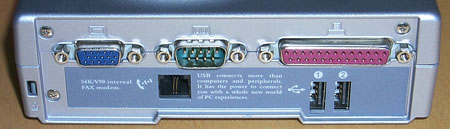 MiniatuurPC input/outputkant