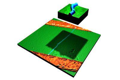 Nanobuis met dubbele knik voor enkel-elektron transistor