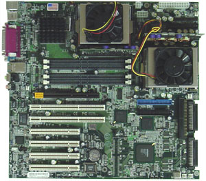 Dual Pentium 4 Xeon in moederbord