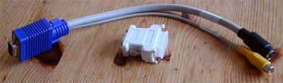 Matrox Millennium G550 kabels en verloopstukje