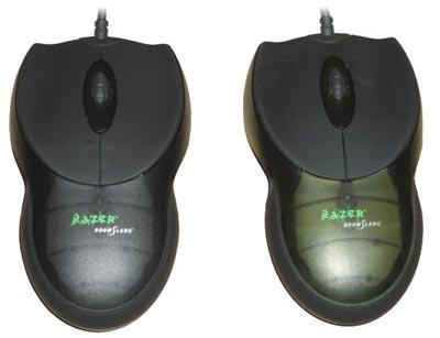 Kärna Razer Boomslang 1000 dpi en 2000 dpi ratten