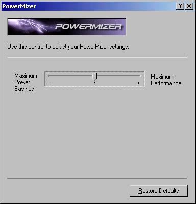 nVidia PowerMizer