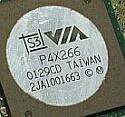 VIA P4X266 chipset zoom-in